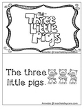 Three Little Pigs Emergent Reader. Pre-k, Kindergarten, 1s