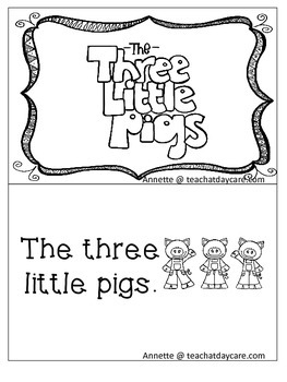 Three Little Pigs Emergent Reader. Pre-k, Kindergarten, 1s
