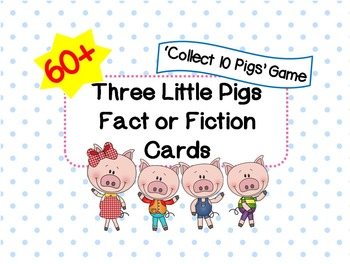Three Little Pigs Fact or Fiction Cards