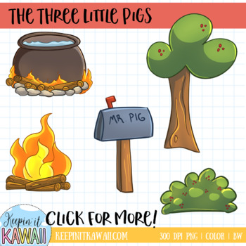 Three Little Pigs Fairy Tale Clip Art