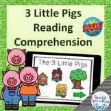 Three Little Pigs Fairy Tales Reading Comprehension BOOM Cards™