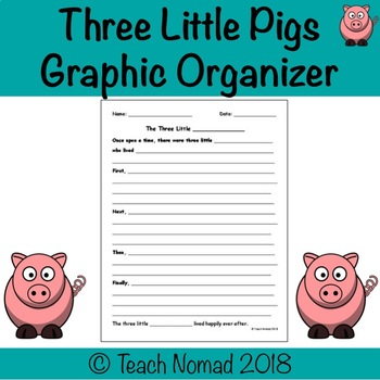 Three Little Pigs Fill in the Blank Writing Template