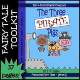 Three Little Pigs Fractured Fairy Tale Readers' Theater Script-Vocab-More:Grd3-6