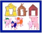 Three Little Pigs Houses Clip Art