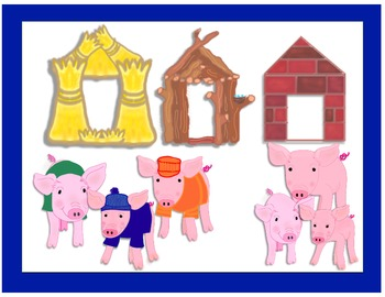 three little pigs houses clip art by carrberry creations tpt rh teacherspayteachers com three little pigs houses clipart 3 little pigs clipart black and white