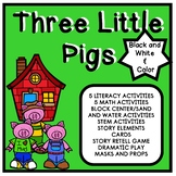 Three Little Pigs Inspired Thematic Unit for Pre-K and Homeschool