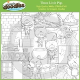 Three Little Pigs Line Art