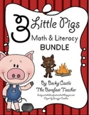 Three Little Pigs Literacy & Math Bundle - 10 Activities Total