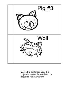 Three Little Pigs Literacy Set