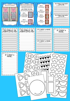 Three Little Pigs - Literacy and Math Printables. Includes a Craftivity!