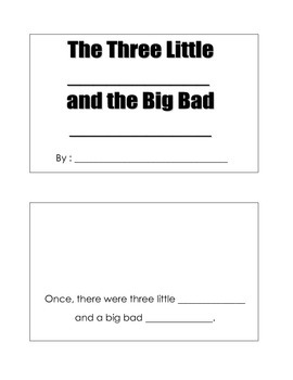 Three Little Pigs Make Your Own Book