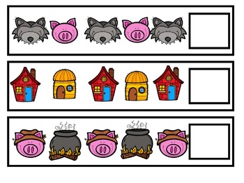 Three Little Pigs Math Activities for Pre-K, Kindergarten, Homeschool