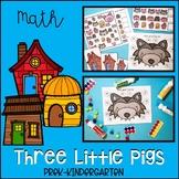 Three Little Pigs Math Activities for Pre-K, Kindergarten,