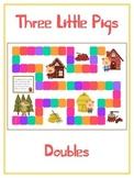 Three Little Pigs Math Folder Game - Common Core - Adding Doubles