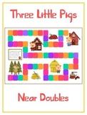 Three Little Pigs Math Folder Game - Common Core - Adding Near Doubles