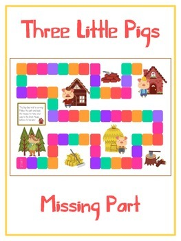 Three Little Pigs Math Folder Game - Common Core - Finding