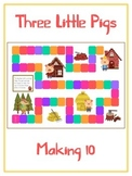 Three Little Pigs Math Folder Game - Common Core - Making Ten