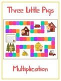 Three Little Pigs Math Folder Game - Common Core - Multiplication