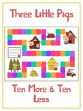 Three Little Pigs Math Folder Game - Common Core - Ten More and Ten Less