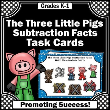 Kindergarten Subtraction Task Cards Special Education Math