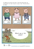 Three Little Pigs Measure Around the Room