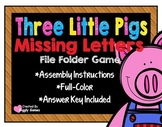 Three Little Pigs Missing Letters File Folder Game