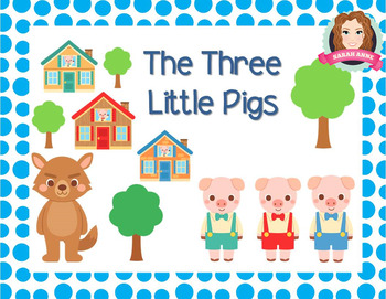 Three Little Pigs {Narrative Story Focus on Structure, Verbs, Nouns, Adjectives}