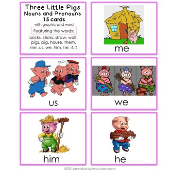 Three Little Pigs: Noun or Pronoun