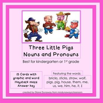 Three Little Pigs: Noun or Pronoun