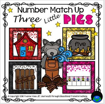 Three Little Pigs Number Match Up