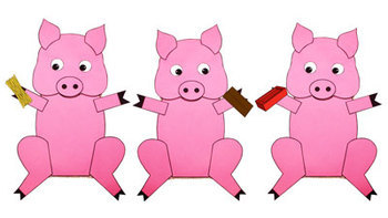 Three Little Pigs Paper Bag Puppets