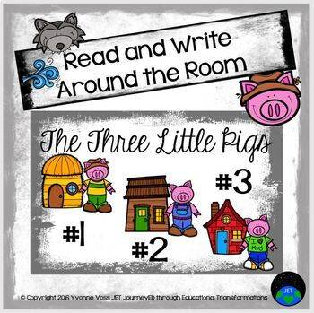Three Little Pigs Read and Write Around the Room