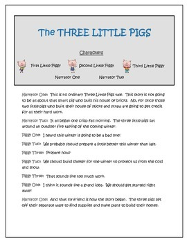 Three Little Pigs Readers' Theater - Area and Perimeter