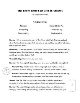 Three Little Pigs Readers Theatre