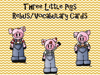 Three Little Pigs Rebus story vocabulary cards