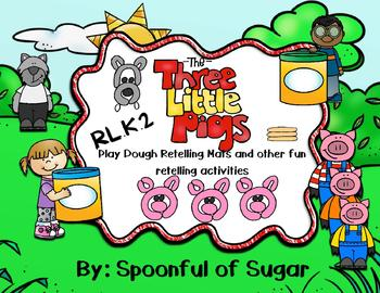 Three Little Pigs Retelling Playdough mats and other fun!