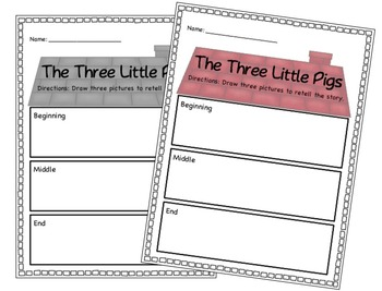 Three Little Pigs Retelling Tools