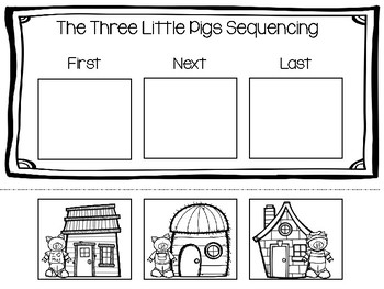 three little pigs sequencing by teaching in china tpt. Black Bedroom Furniture Sets. Home Design Ideas