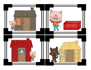 Three Little Pigs Sequencing Cards