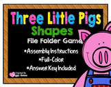 Three Little Pigs Shapes File Folder Game