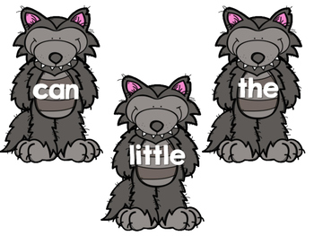 Three Little Pigs- Sight Word Match Freebie