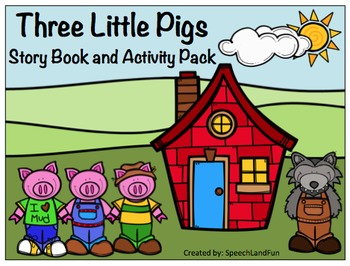 Three Little Pigs Story Book and Activity Pack
