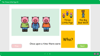 Three Little Pigs Story Speech Therapy Colorful Semantics Autism