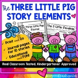 Three Little Pigs Story Element Journals | Distance Learning