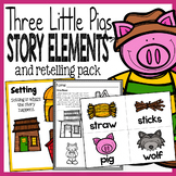 Three Little Pigs Story Elements and Story Retelling Works