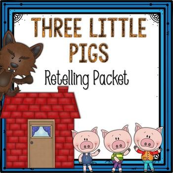Three Little Pigs Stick Puppets