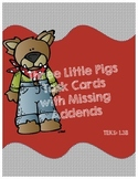 Three Little Pigs Task Cards with Missing Addends