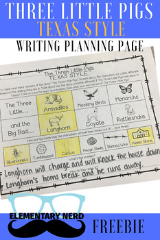 Three Little Pigs - Texas Style Writing Page