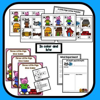 Three Little Pigs Theme Preschool Lesson Plans - 3 Little Pigs Activities