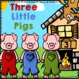 Three Little Pigs Unit (Kindergarten Comprehension and Math Pack)